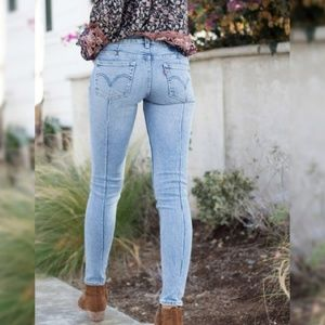 Anthropologie x Levi's Altered 711 Skinny Jean A9